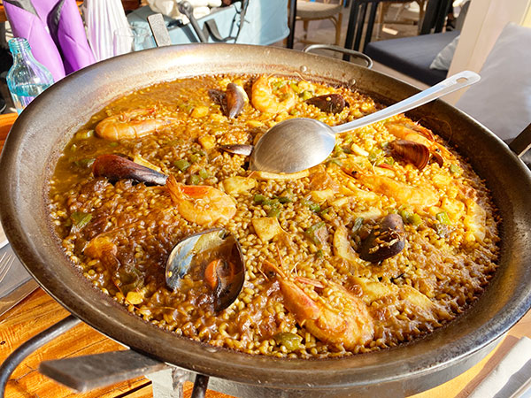 Paella at a restaurant near the office